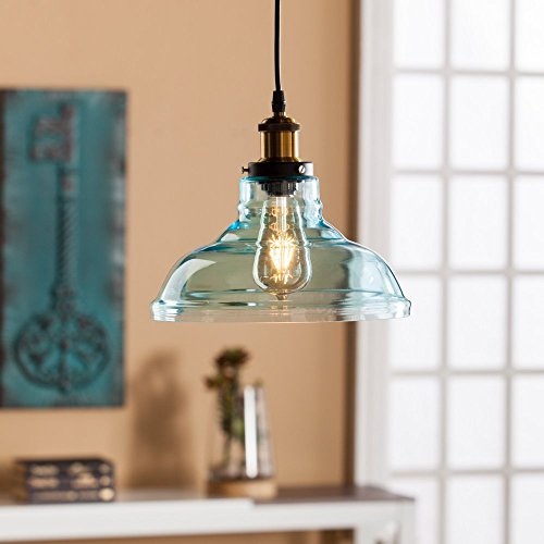 Southern Enterprises Gracelyn Colored Glass Bell Pendant Lamp In (Colored Glass Pendant)