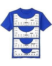 T-Shirt Alignment Ruler, PVC Tshirt Ruler Guide for Vinyl for Making Fashion Center Design, Graft Ruler Alignment Tool for Htv, Heat Transfer Vinyl, Adult Youth Toddler Infant (4 Pack)