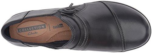 Cuero de Negro Azul Clarks Leather Marino Navy Zapato Mujeres Ocasional Para resbalón EN el Las de wtB5TE5q