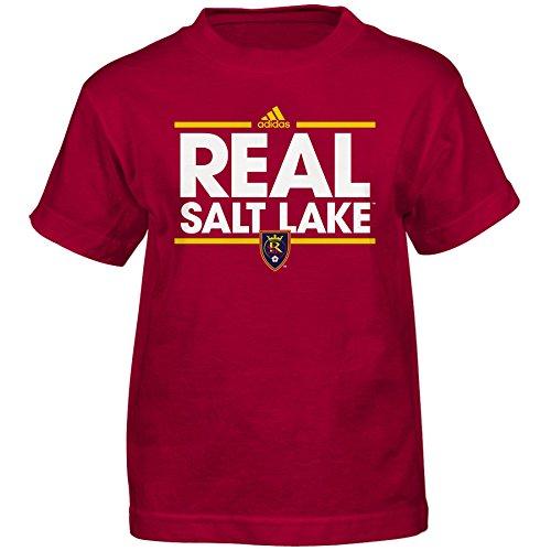 Outerstuff MLS Real Salt Lake Boys -Dassler Short Sleeve Tee, Crimson Red, Medium (5-6)