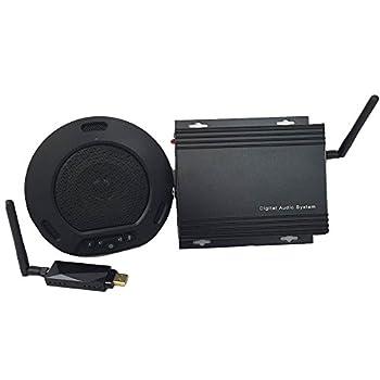 Image of Audio Conferencing HuddlePod Air Big Audio - Wireless Audio Conferencing with External Audio Out - Black