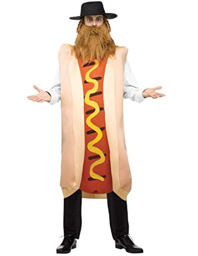 [Kosher Hot Dog Adult Costume] (Hot Dog Costume For Adults)