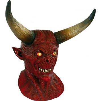 Máscara de demonio con cuernos Halloween