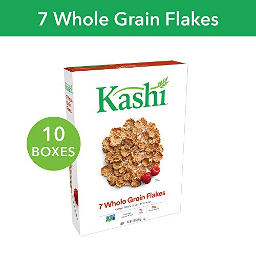 Kashi, Breakfast Cereal, 7 Whole Grain Flakes, Non-GMO Project Verified, Bulk Size, 126 Ounces (Pack of 10, 12.6 oz Boxes) ()