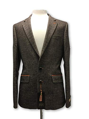 Button Rrp 99 In £438 Two 48 Gentlemen Blazer Brown Of Circle Wool zx166w