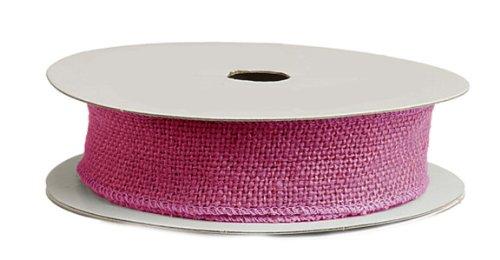 10 Yards of Flax Burlap Crafing Fabric Ribbon on Spool (1.5