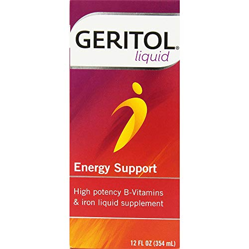 Geritol Liquid Energy Support B-Vitamins 12 oz (Pack of 2) (Best Liquid Vitamin Supplement)