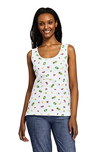 Lands' End Women's Cotton Tank Top - Lands Womens End Bras