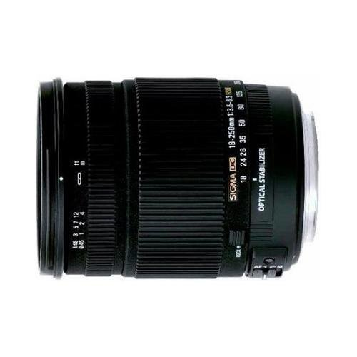 Sigma 18-250mm f/3.5-6.3 DC OS HSM IF Lens for Canon Auto Focus Digital SLR Cameras by Sigma