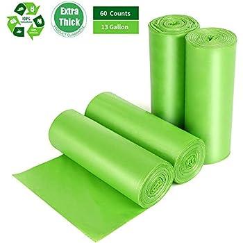 Amazon.com: Biodegradable Trash Bags 4-6 Gallon, 100 Counts ...