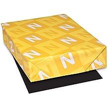 "Astrobrights Colored Cardstock, 8.5"" x 11"", 65 lb/176 gsm, Eclipse Black, 100 Sheets (22024-01)"