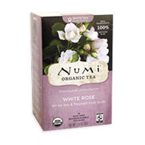 Numi Tea Organic Tea White Rose, Full Leaf White Tea (6x16 Bag )