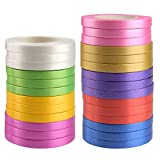 KUUQA 5 mm Curling Ribbon Set Wrapping Ribbon Balloon Ribbon for Gift Wrapping Wedding Party Decoration DIY Craft (27 rolls, 10m/Roll)