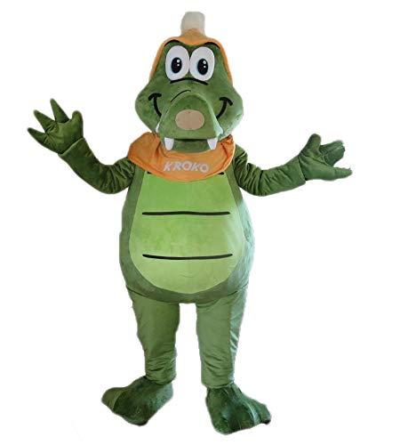 Adult Size Green Crocodile Mascot Costume for Theme Park Custom Made Mascots Sports Mascot