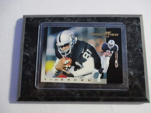 TIM BROWN OAKLAND RAIDERS 1997 NFL PINNACLE XPRESS PLAYER CARD MOUNTED ON A 4