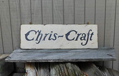 (Adonis554Dan Vintage Chris Craft Boats Trade Sign)