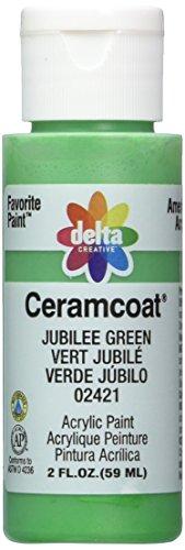 Delta Creative Ceramcoat Acrylic Paint in Assorted Colors (2 oz), 2421, Jubilee Green - Jubilee Green