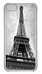 iPhone 5C Case Eiffel Tower In Paris PC Custom iPhone 5C Case Cover Transparent