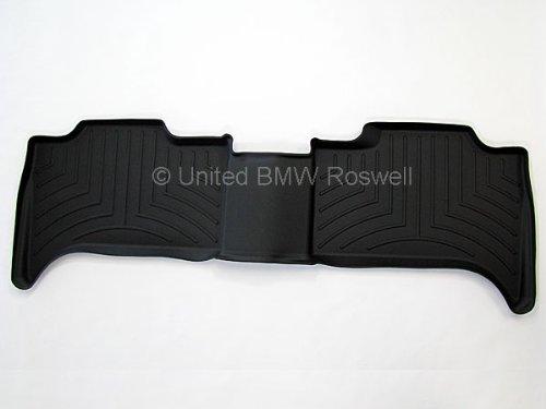 BMW All Weather Rear Rubber Floor Liner Mats X5 (2000-2006) - Black