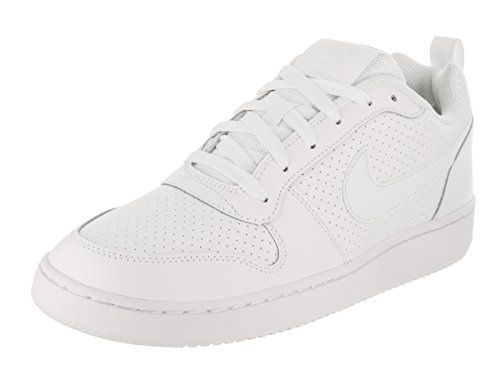 NIKE Mens Court Borough Low White/White Basketball Sneakers Size 11.5 D(M) US – DiZiSports Store