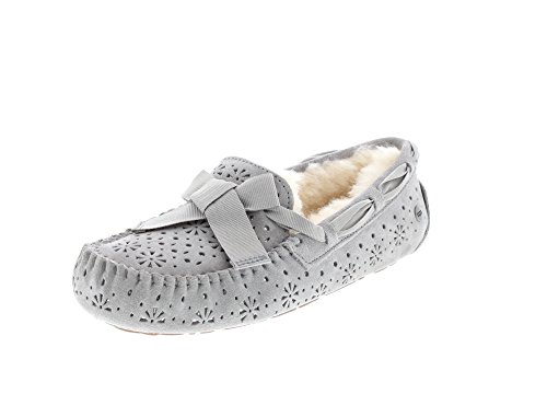 UGG Womens Dakota Sunshine Perf Slipper, Seal, Size 9 (Womans Ugg Slippers Size 9)