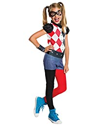 Rubies Costume Kids DC Superhero Girls Harley Quinn Costume, Medium