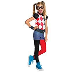 Rubie's Costume Kids DC Superhero Girls Harley Quinn Costume, Large