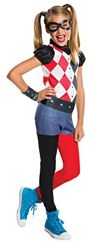 Rubie's Costume Kids DC Superhero Girls Harley Quinn Costume, Small (Italian Costume For Kids)