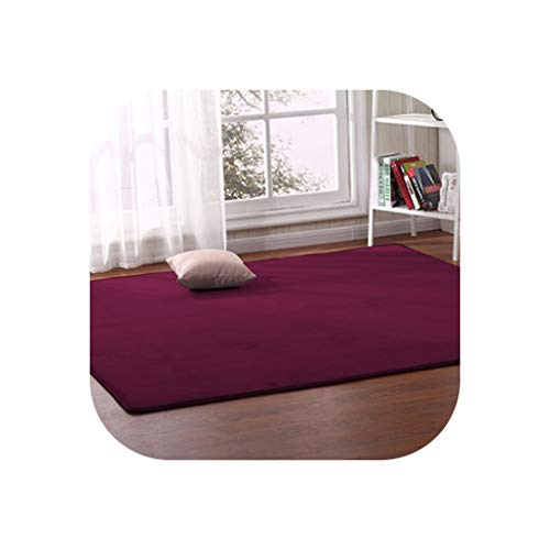 Thick Coral Fleece Carpet Living Room Coffee Table Sofa Blanket Children's Room Mat Bedroom Bedside Bay Window Rectangular Rug,5,140 X200Cm
