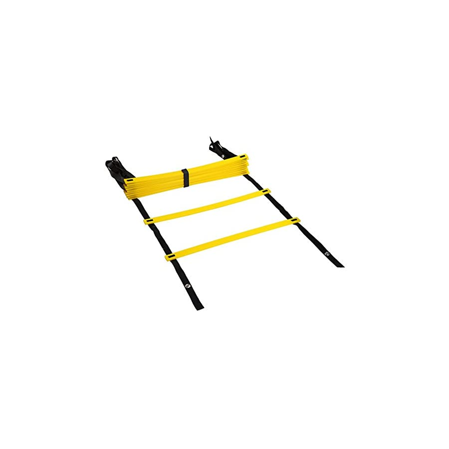 REEHUT Agility Ladder w/FREE USER E BOOK + CARRY BAG Speed Training Equipment For High Intensity Footwork (8 Rungs 12 Rungs 20 Rungs)
