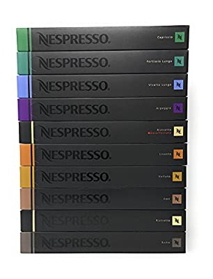 Nespresso OriginalLine Capsules ogYLeT Variety, 100 Count NOT compatible with Vertuoline machines, 2 Pack