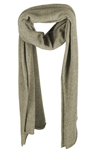 Ladies Cashmere Mix Wrap Scarf - Olive Leaf Green - made in Scotland by Love Cashmere RRP $290 by Love Cashmere (Image #1)