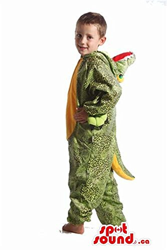 Costumes Alligator Kids Plush (Cute Green And All Yellow Alligator Plush Children Size)