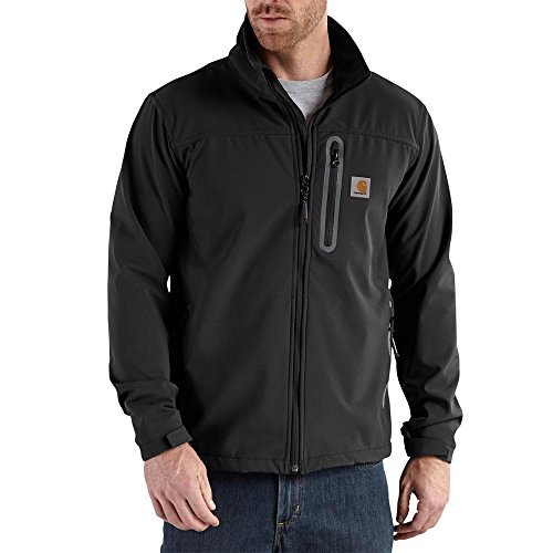 dea9644ca1f5b Carhartt Men's Denwood Soft Shell Jacket,Black,Medium | W Jacket Outlet