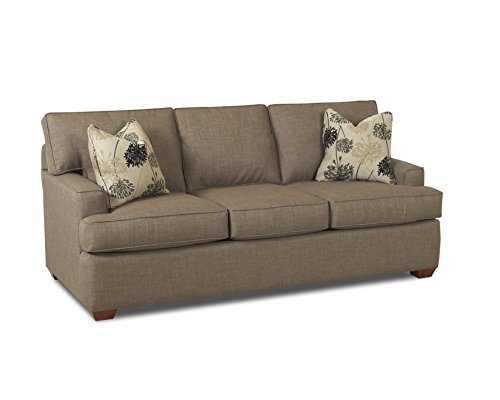 Klaussner Pantego Dreamquest Sleeper Sofa, Queen, Stone - Klaussner Home Furniture