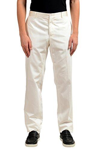 Dolce & Gabbana Men's Silk White Tuxedo Dress Pants US 34 IT 50 (Gabbana Tuxedo & Dolce)