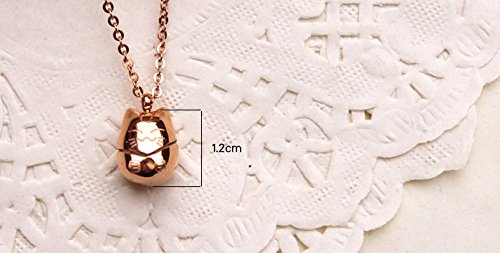 Ello Elli Lucky Cat Necklace Rose-Gold Tone 316L Stainless Steel by Ello Elli (Image #4)