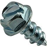 Hard-to-Find Fastener 014973265953 Slotted Hex Washer Sheet Metal Screws, 12 x 1/2, Piece-60