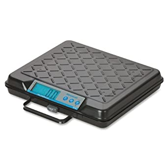 """Salter-Brecknell GP100 Electronic General Purpose Portable Bench Scale with LCD Display, 10-15/16"""" Length x 12-1/2"""" Width x 2-3/16"""" Height, 100lbs Capacity"""