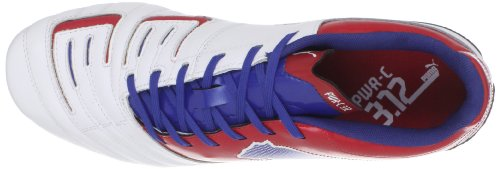 PUMA Mens PowerCat 3.12 FG Soccer Cleat White/Ribbon Red/Limoges Pj2D5