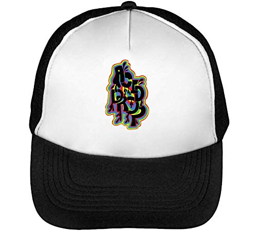 Drop Beisbol Negro Snapback Gorras Blanco Hombre Acid n0aXpdIww