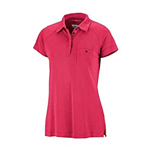 Columbia Lady Sun Ridge, Polo, para mujer Rosso (Red Hibiscus ...