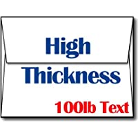 Ultra Thick White A2 Envelopes - Sturdy, Durable, Heavyweight Envelopes for Invitations & Greeting Cards (100 Envelopes)