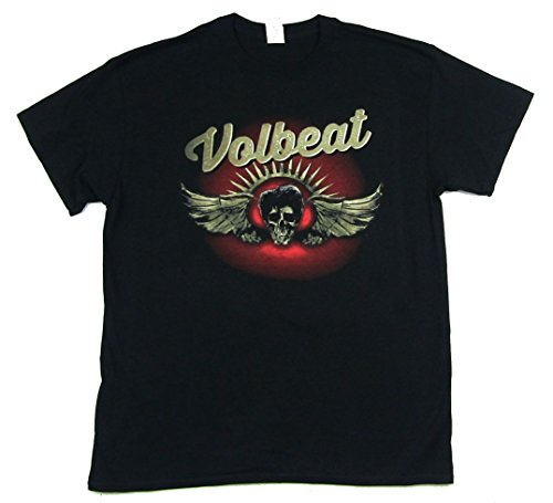 Volbeat Dark Skull Wings Image Black T Shirt (3X)