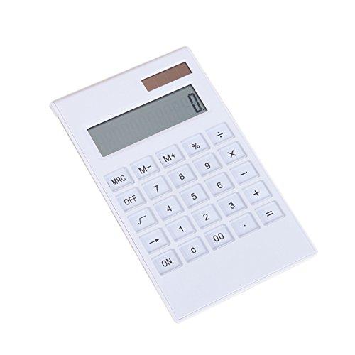Calculadora de energía solar, calculadora de energía solar de 12 dígitos con botón de vidrio de doble fuente de...