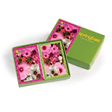 Springbok Blossom Bouquet Bridge Size Playing Cards-2 Deck Set Jumbo Index