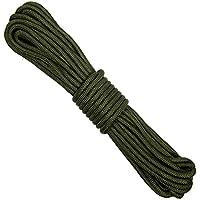 FOSCO Corde Utilitaire Commando DE 15 METRES Vert Olive DIAMETRE 7 MM