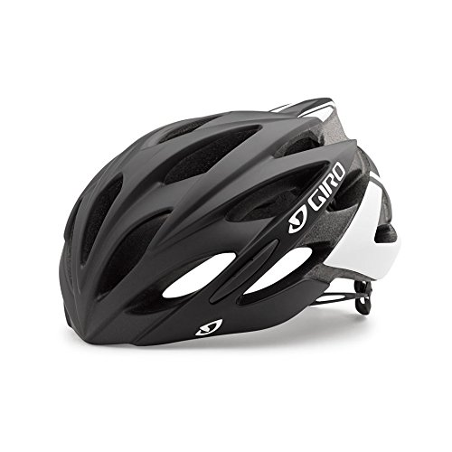 Giro Savant Road Bike Helmet, Matte Black/White, Medium (Best Road Bike Helmet Under 100)