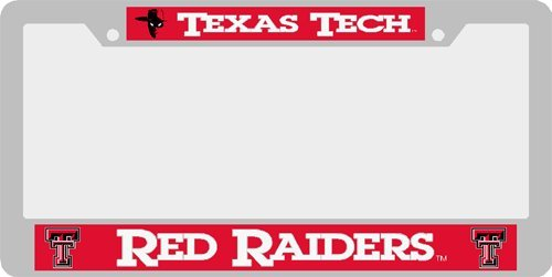 Double University Frame (Texas Tech University Red Raiders License Plate Frame (Double Text))