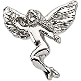 White Gold Dancing Angel Lapel Pin